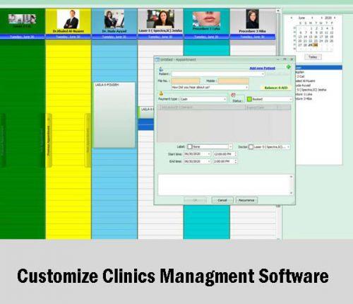 Customize Clinics Managment Software