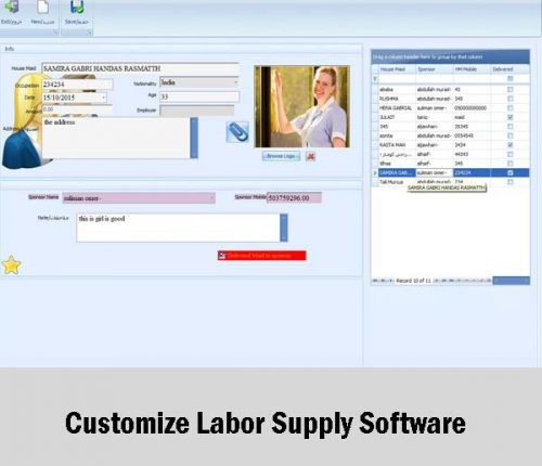 Customize Labor Supply Software